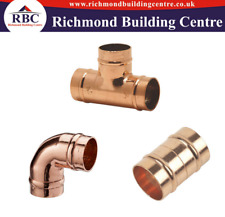 15MM COPPER SOLDER RING YORKSHIRE PLUMBING FITTINGS ALL PACK OF X 10