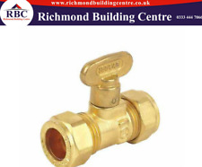 GAS TAP SHUT OFF ISOLATION VALVE GAS COCK COMPRESSION 15mm BRASS LEVER STOP