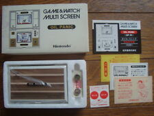NINTENDO GAME AND & WATCH OIL PANIC NEW OLD STOCK w/ BOX Manual 1982 JAPAN
