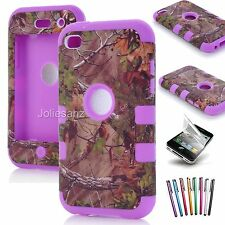 For Apple iPod Touch 4th Generation 4G Hybrid Heavy Duty Rugged Case Cover