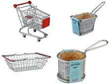 Novelty Chip Basket,Mini Shopping Trolley,Serving Bask,Serving Basket Round