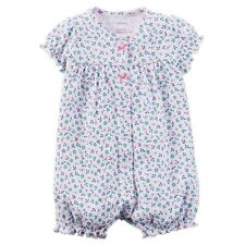 Carters Ruffle Floral Snap Up Romper One Piece Baby Girl Size 3 6 Months