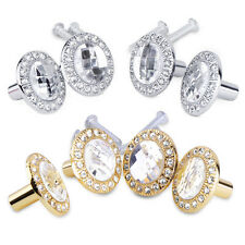 4PCS Clear Glass Crystal Diamond Sparkle Cabinet Drawer Door Pulls Knobs Handle