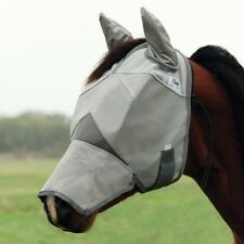 Cashel Crusader Cool Fly Mask w/Ears & Long Nose- ALL SIZES -Mini to Draft Horse