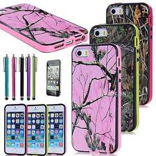 Tree Grass Hybrid Combo PC Silicone Hard Case Cover For Apple iphone 5 S G