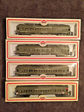 MODEL POWER HO SCALE - LOT OF 4 UNITED STATES ARMED FORCES PASSENGER CARS