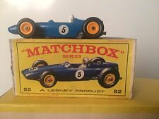 lesney Matchbox  # 52 b.r.m. racing car With Original Box Hard to Find