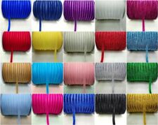 5 10 50 Yards 10mm Velvet Ribbon Headband Clips Bow Decoration U pick  UG