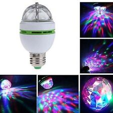 3W E27 RGB Crystal Ball Rotating LED Stage Light Bulbs Disco Party Bulb Lamp Hot