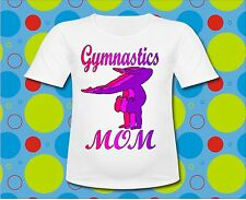 Hot Pink Gymnastics Mom T Shirt All Sizes Dance Gymnastics mom shirt Pink
