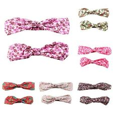 2 Pcs/set Fashion Mother Baby Girls Floral Hairband Headwear Elastic Accessories