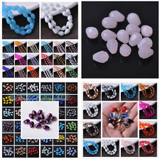 3~8mm Glass Czech Crystal Faceted Loose Spacer Beads Jewellery Findings Teardrop