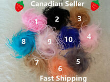 NEW!! 10 Different Colors Ostrich Feather flower Puff Hair Clip Brooch Lapel Pin