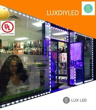 Luxdiyled Storefront LED Kit w/ Tracks for Indoor & Outdoor Kit (White 50ft)
