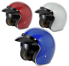 V-CAN V537 (RS-V06) OPEN FACE SCOOTER MOTORCYCLE RETRO HELMET SILVER METAL FLAKE