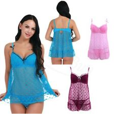 Sexy Lingerie Sleepwear Lace Womens G-string Dress Underwear Babydoll Nightwear