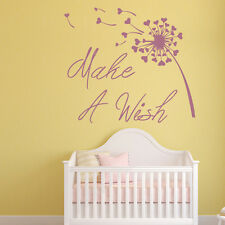 Make A Wish Wall Sticker Inspirational Quote Wall Stickers Kids Bedroom Decor