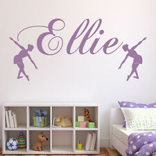 Personalised Name Wall Sticker Ballet Dance Wall Decal Girls Room Home Decor