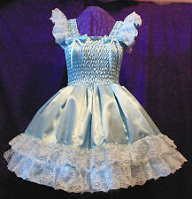 Sundress Satin Blue Adult Baby Sissy Aunt D