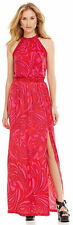 NWT MSRP $150 - MICHAEL KORS Mini Cynthia Paisley Halter Maxi Dress, Pink