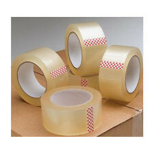 BIG Rolls Of CLEAR STRONG Parcel Tape Low Noise Packing sellotape 48mm x 66m