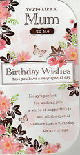 You're Like A Mum To Me  ~ Birthday Card