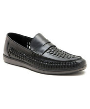 RED TAPE ASHLEY MENS LEATHER BLACK SLIP ON SHOES UK 7-11