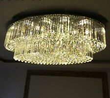 Crystal large oval chandelier LED Ceiling Fixture Curtain pendant lamp light