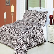 3pc Duvet Cover Bedding Set - White and Eggshell Duvet Cover Set - Tustin