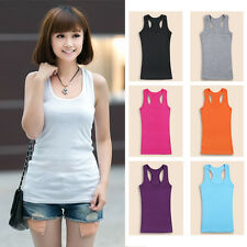 Women Lady Tank Vest Sleeveless Camisole Slim Fit Blouses Tops Bottoming T-shirt