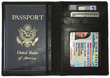 Leather RFID Passport Wallet Holder