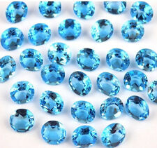 Wholesale Lot Natural Swiss Blue Topaz Oval Normal Cut Faceted Loose Gemstone