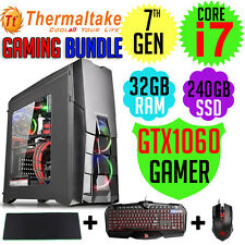 Thermaltake Gaming Bundle Core i7-7700 Nvidia GTX1060 KB&M Desktop Computer PC