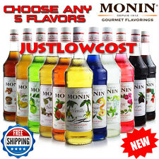 Monin Flavored Syrup Coffee Tea Boba Bubble Smoothie(750mL),CHOOSE ANY 5 BOTTLES
