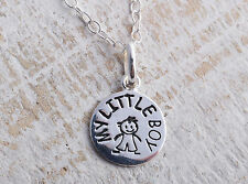 STERLING SILVER 925 MY LITTLE BOY CHARM PENDANT CHAIN NECKLACE 925