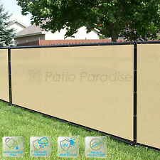 Customized Privacy Screen Fence Windscreen Garden Fabric Shade Beige 4'FT101-150