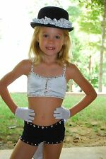 Black and white  competition dance costume  jazz musical theater CXS CS