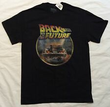 NWT BACK TO THE FUTURE Vintage Logo DELOREAN Time Machine OUTATIME Movie T-SHIRT