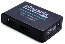 Plugable Technologies Plugable USB 2.0 4-Port High Speed Charging Hub with 12.5W