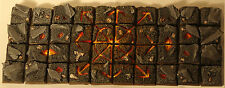 CHAOS ICON LAVA/SKULL RESIN SCENIC SQUARE BASE 25mm warriors Age of Sigmar