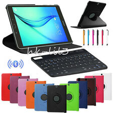 Bluetooth Keyboard+360° Rotating PU Leather Case Cover For Samsung Tablets+Gift