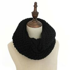 Winter Knit Hollow Long Warm Circle Neck Shawl Cowl Women Lady Scarf Scarves New