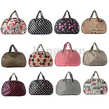 Printed Overnight Travel Duffle Handbag Tote Bag Luggage Gym Sports Holdall AU