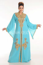 New Dubai Party Wear Arabian Khaleeji Long Maxi Kaftan Dress For Ladies 4153