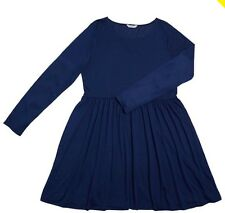 plus size so! Brave Soul Womens Skater Dress Blue - new