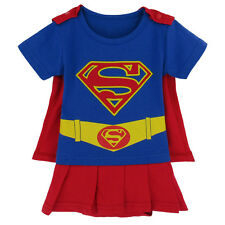 Baby Girl Supergirl Costume Bodysuit Cute Infant Cosplay 0-24 Months