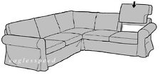 IKEA Ektorp 2 + 2 Sectional Sofa Back Cushion Slipcover Svanby Beige Arm Cover