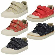 Girls Clarks Comic Cool Inf Casual Canvas Doodles Pumps