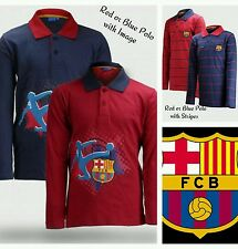 Boys Football Top Age 6 14 Years FC  Barcelona Official Polo Shirt. Last Few!