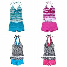 GIRLS SWIM BATHING SUIT TANKINI KIDS SWIMWEAR BEACHWEAR SWIMMING